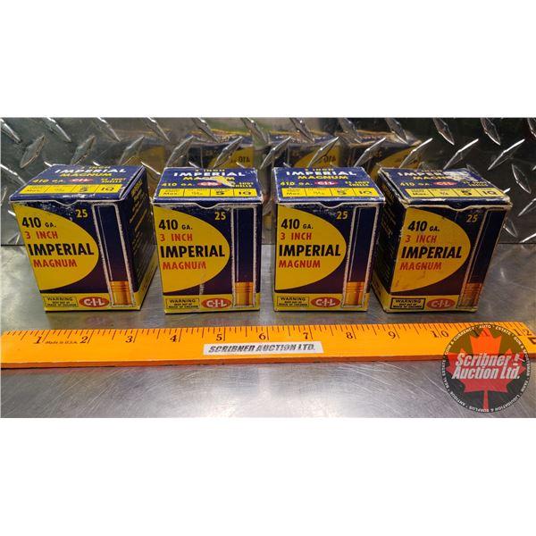 "AMMO: Vintage Imperial Magnum .410ga 3"" (5 Shot) (4 Boxes of 25 = 100 Total)"
