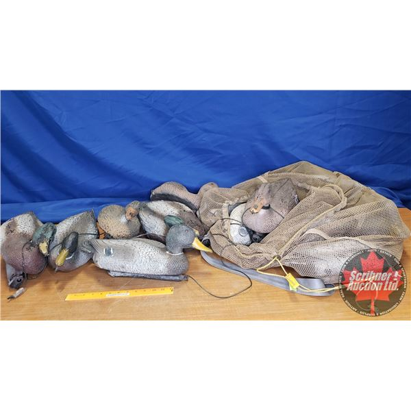 Floating Duck Decoys (Mesh Bag) (14)