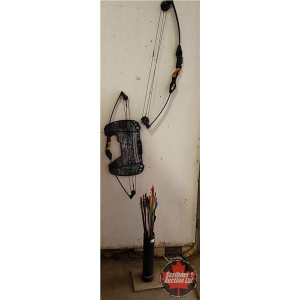 Barnett Archery Set: Banch Quad Bow L'il Banch Bow w/Variety of Arrows