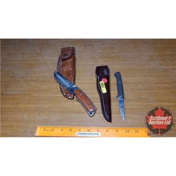 Knives (2) : Gerber 326 w/Sheath & Remington Sportsman Series w/Sheath
