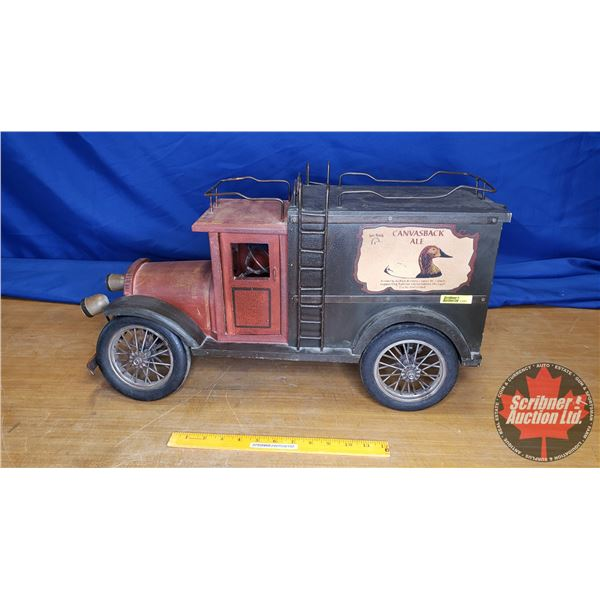 """Duck's Unlimited """"Canvasback Ale"""" Delivery Décor Truck (14""""H x 9""""W x 25""""L)"""