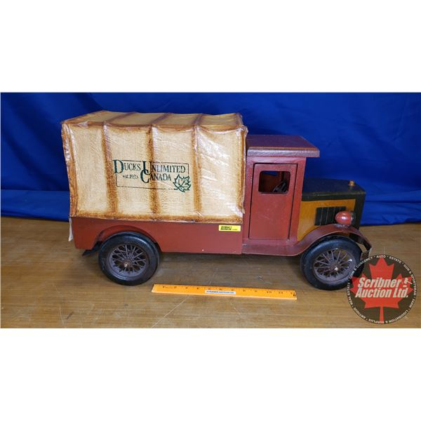 """Duck's Unlimited """"Duck's Unlimited Canada """"w/Canvas Tarp Delivery Décor Truck (14""""H x 10""""W x 25""""L)"""