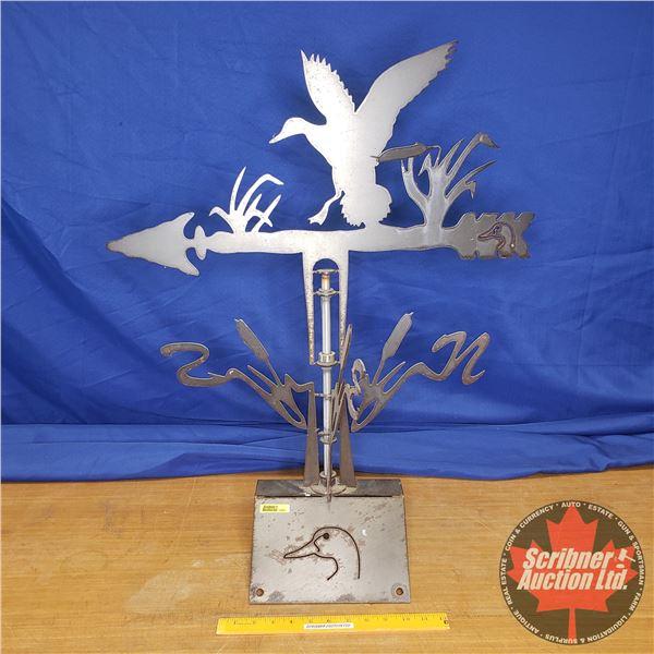 "Duck's Unlimited Design Custom Built Steel Weathervane (30""H) w/Mounting Bracket"