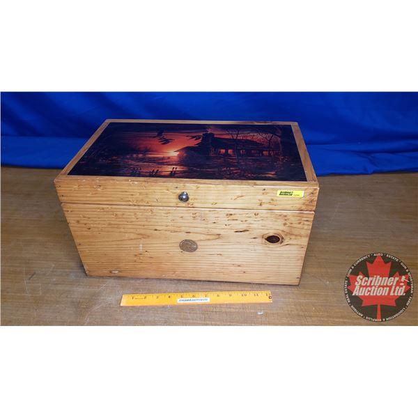 "Duck's Unlimited Decorative Wooden Chest (10""H x 11""W x 18-1/2""L)"