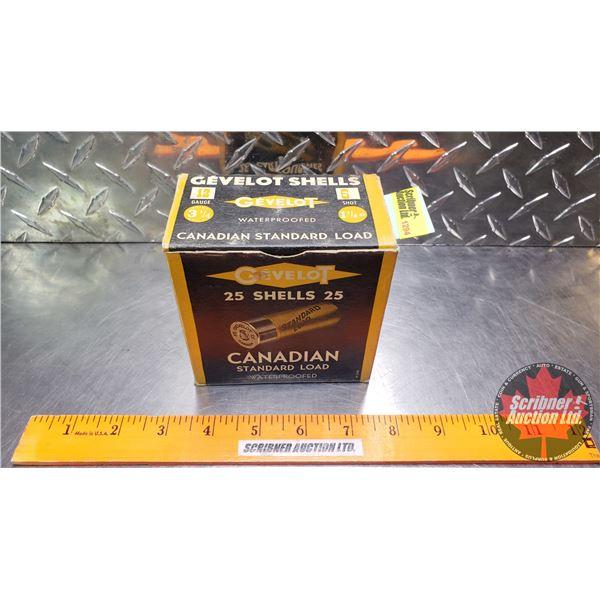 "AMMO: Gevelot Canadian Standard Load 12ga 2-3/4"" (1-1/8ox : 6 Shot) (1 Box of 25)"