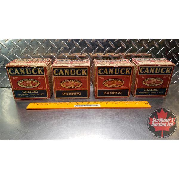 """AMMO: Vintage Canuck 16ga 2-3/4"""" (1oz : 6 Shot) (4 Boxes of 25 = 100 Total)"""