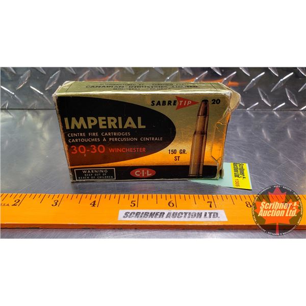 AMMO: Imperial 30-30Win (150gr ST) (1 Box of 20 Rnds)