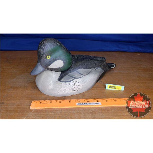 "Duck's Unlimited Carved Goldeneye Duck (7""H x 7""W x 13""L)"