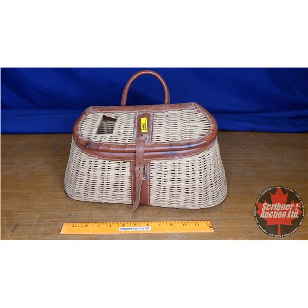 Wicker Creel with Side Pocket