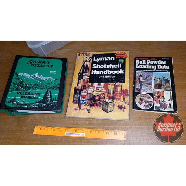 Small Plastic Bin: Shot Shell Handbook, Reloading Manual & Ball Powder Loading Data Books
