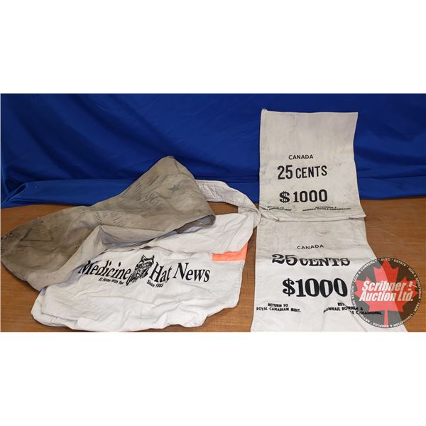 Variety of 4 Canvas Bags (Incl. Moneybags)
