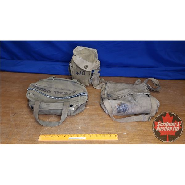 Tray Lot: Army Canvas Bags (3) (Small)