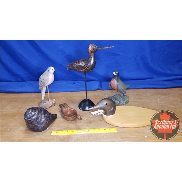 Tray Lot: Different Bird Ornaments (6) (See Pics!)