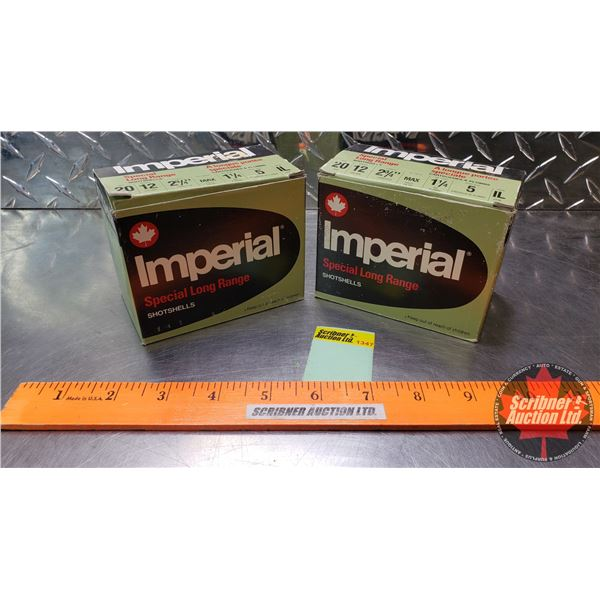 """AMMO: Imperial Special Long Range 12ga 2-3/4"""" (1-1/4oz & 5 Shot) (2 Boxes of 25 = 50 Total)"""