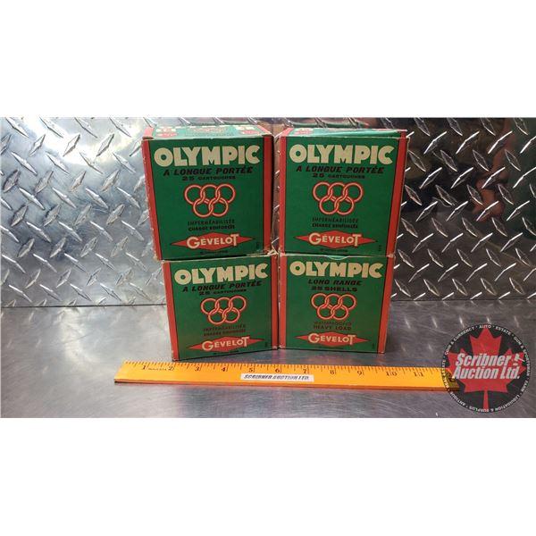 "AMMO: Vintage - Gevelot Olympic 12ga 2-3/4"" (1-1/4oz : 4 Shot) (97 Total)"