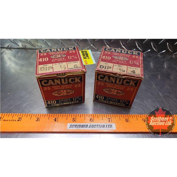 AMMO: Antique/Vintage Canuck .410ga (2 Boxes of 25 = 50 Rnds Total)
