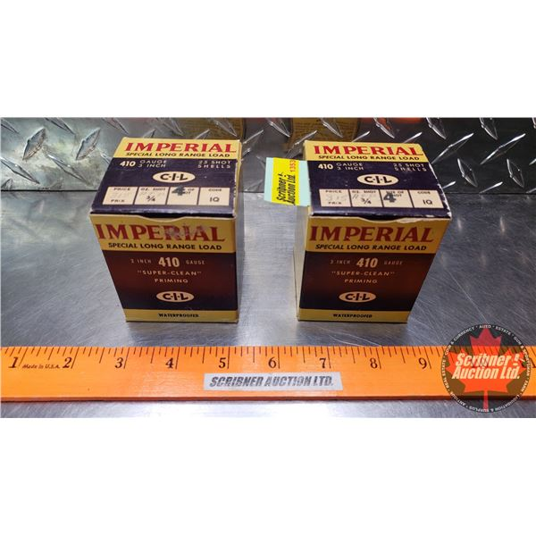 """AMMO: Vintage CIL Imperial Special Long Range Load .410ga 3"""" (3/4oz : 4 Shot) (2 Boxes of 25 = 50 To"""