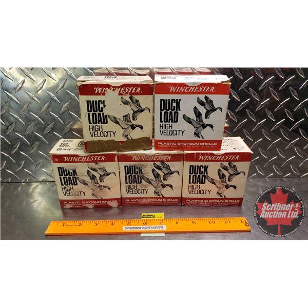 """AMMO: Box Lot : Winchester Duck Load High Velocity 12ga 2-3/4"""" (1-3/16oz : 4 Shot, 5 Shot & 6 Shot)"""