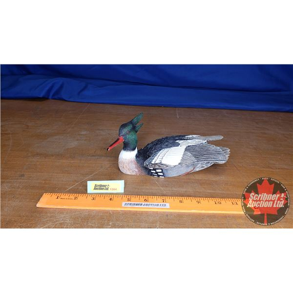 """Duck's Unlimited 2001 Red Breasted Merganser by J.B. Garton (Limited Edition 75/750) (4""""H x 4""""W x 8-"""