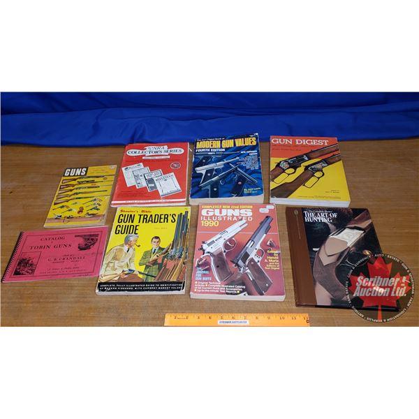 Tray Lot: Variety Gun Books (Incl. Catalogue of Tobin Guns, Gun Digest, Gun Trader's Guide, etc)