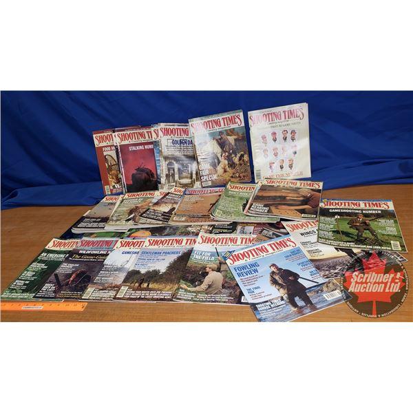 "Box Lot: ""Shooting Times"" Magazines + 1 ""Sporting Clays"" Magazine"