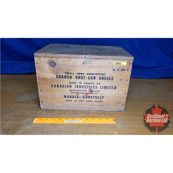 Vintage CIL Shot Gun Shells Wooden Box (12ga) w/Lid