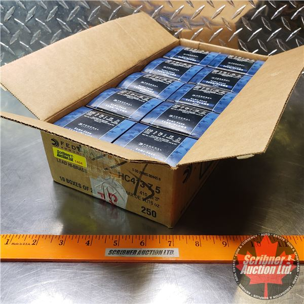 "AMMO: Case Lot: Federal Game-Shok .410ga 3"" (11/16oz : 7-1/2 Shot) (10 Boxes of 25 = 250 Total)"