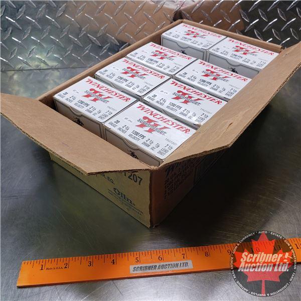 "AMMO: Partial Case Lot: Winchester Super Target 20ga 2-3/4"" (7/8oz : 7-1/2 Lead Shot) (8 Boxes of 25"