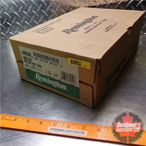 "AMMO: Case Lot: Remington Gun Club Target Loads 12ga 2-3/4"" (1-1/8oz : 7-1/2 Shot) (10 Boxes of 25 ="