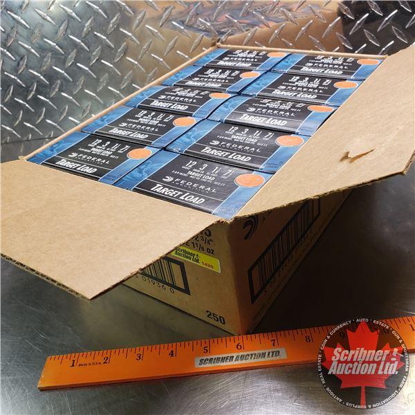 "AMMO: Case Lot: Federal Target Load 12ga 2-3/4"" (1-1/8oz : 7-1/2 Shot) (10 Boxes of 25 = 250 Total)"