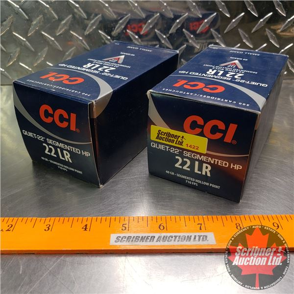 AMMO: CCI Quiet 22 Small Game .22LR (40gr Segmented HP) (19 Boxes of 50 = 950 Rnds Total)