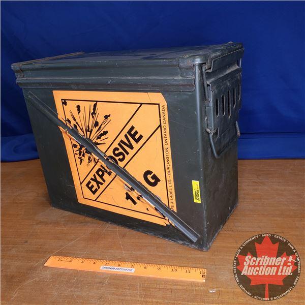 """Military Ammo Box (14""""H x 7""""W x 17""""L)"""