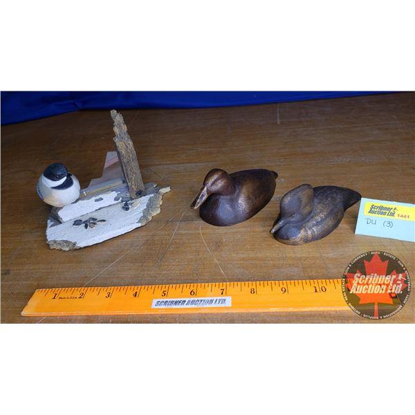 Duck's Unlimited Ornaments (3): Chickadee & Ducks (2) (Small)