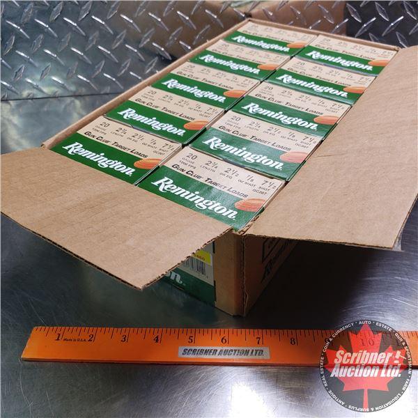 "AMMO: Case Lot: Remington Gun Club Target Loads 20ga (2-1/2"") 7/8oz : 7-1/2 Shot (10 Boxes of 25 = 2"