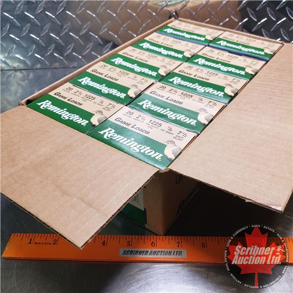 "AMMO: Case Lot: Remington Game Loads 20ga 2-3/4"" (7/8oz : 7-1/2 Shot) (10 Boxes of 25 = 250 Total)"