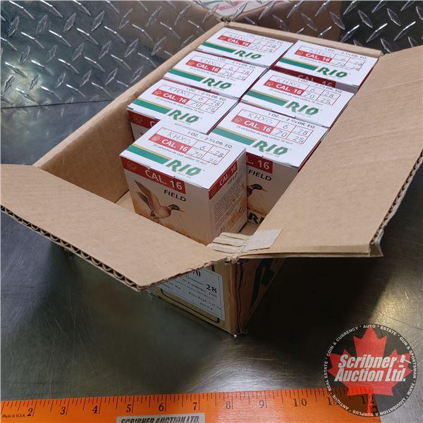 "AMMO: Partial Case Lot: RIO Field 16ga 2-3/4"" (1oz : 6 Shot) (7 Boxes of 25 = 175 Total)"
