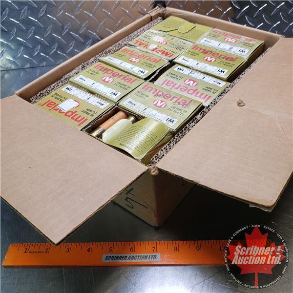 "AMMO: Case Lot: Imperial 20ga 2-3/4"" (1oz : 4 Shot & 5 Shot) (10 Boxes of 25 = 250 Total)"
