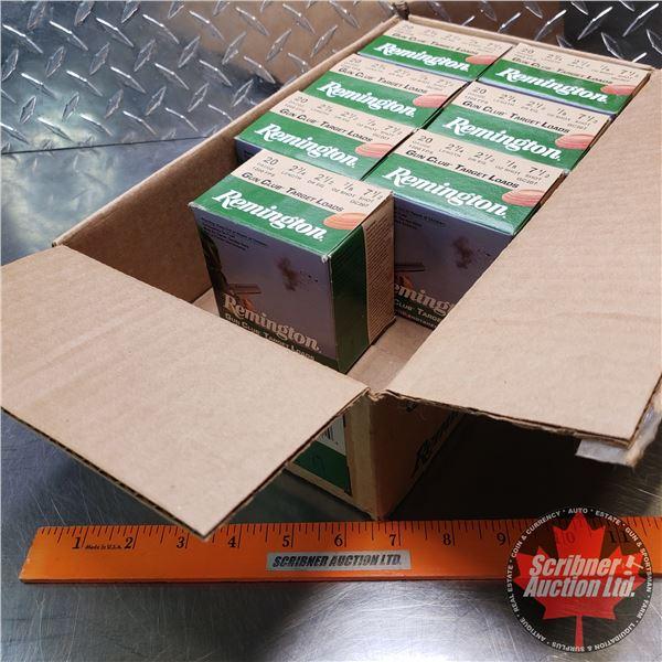 "AMMO: Box Lot: Remington Gun Club Target Loads 20ga 2-3/4"" (7/8oz : 7-1/2 Shot) (7 Boxes of 25 = 175"