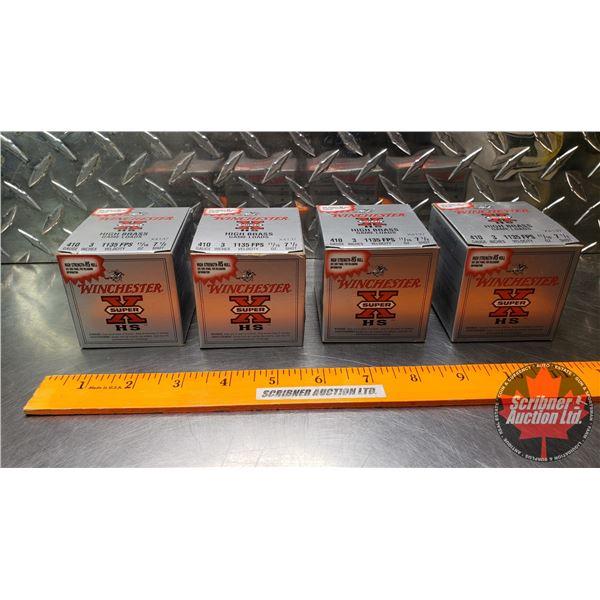 "AMMO: Winchester Super XHS High Brass Game Loads .410ga 3"" (1135 FPS Velocity) (11/16oz : 7-1/2 Shot"