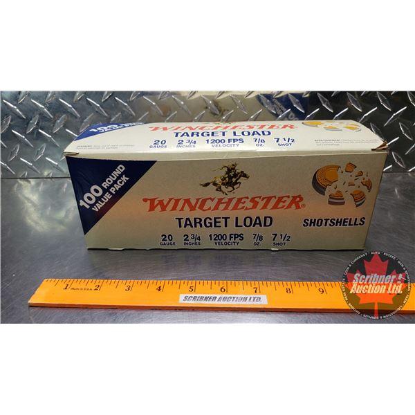 "AMMO: Brick Lot: Winchester Target Load (20ga 2-3/4"") 1200FPS Velocity (7/8oz : 7-1/2 Shot) (4 Boxes"