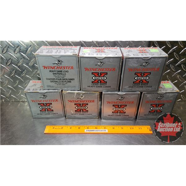 """AMMO: Winchester Heavy Game Loads 12ga 2-3/4"""" (1-1/8oz : 4 Shot) (7 Boxes of 25 = 175 Total)"""
