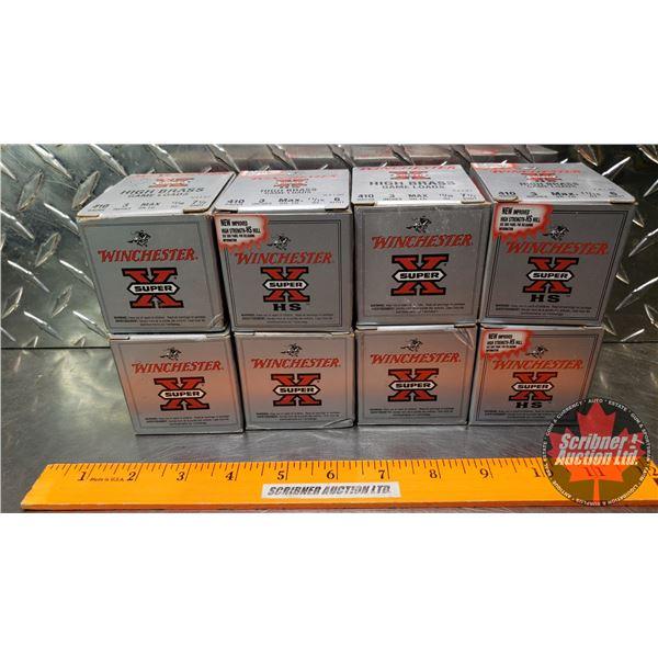 "AMMO: Tray Lot: Winchester Super X High Brass Game Loads .410ga 3"" (11/16oz : 7-1/2 Shot) (8 Boxes o"