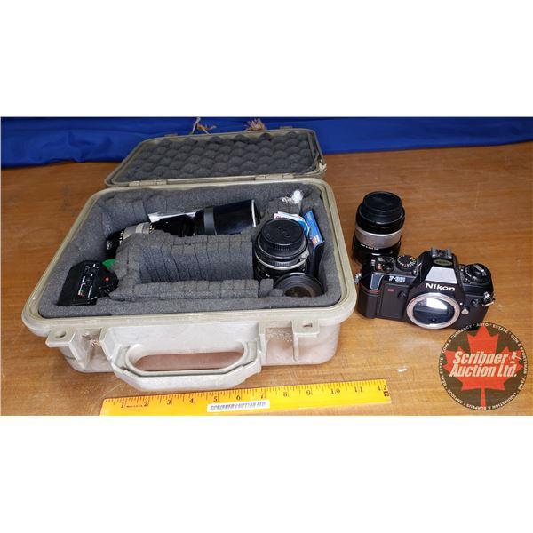 Nikon Camera w/Lenses & Flash (Variety in Waterproof Case)