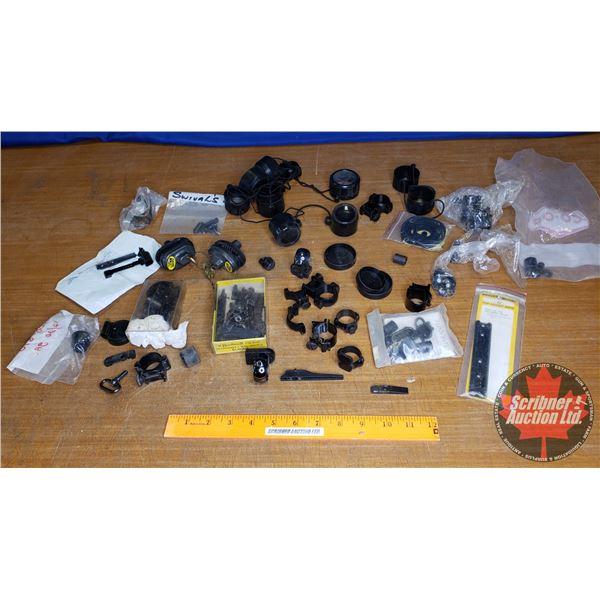 Plastic Container of Trigger Locks, Scope Mounts & Scope Rings, Sling Swivels, etc