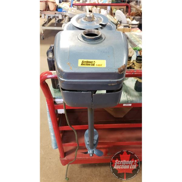 Outboard Engine (Small) (No Gas Cap) (Note: Turns over/Has Compression)
