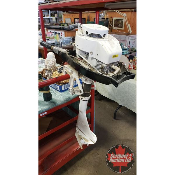 Tecumseh Outboard Motor (Note: Turns over/Has Compression - Missing Hood)