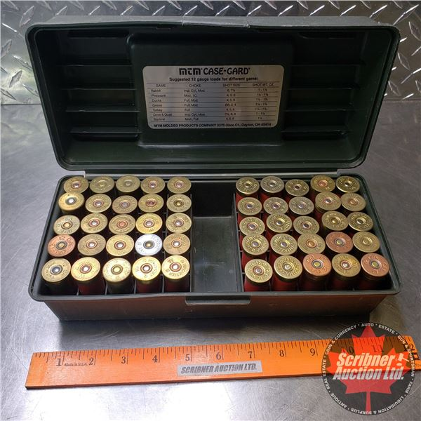 AMMO: Variety of Brands 12ga in Green Plastic Ammo Box (50 Total)