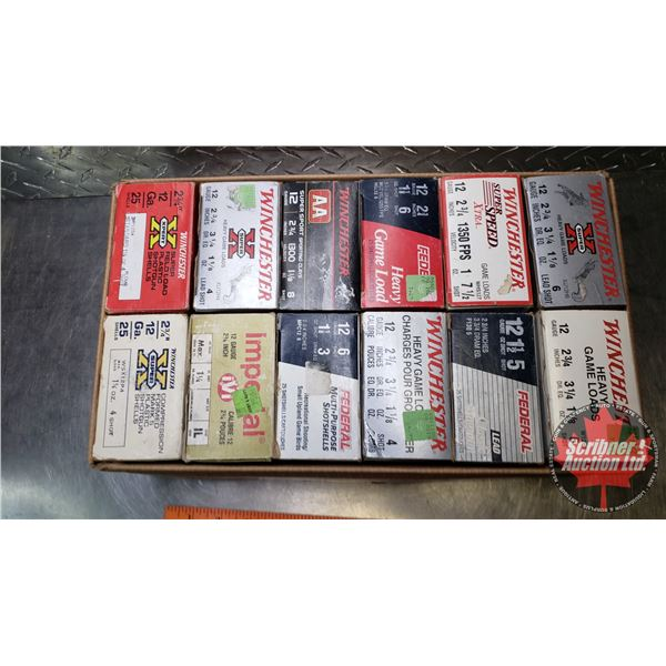 """AMMO: Variety Pack 12ga 2-3/4"""" (12 Boxes of 25 = 300 Total)"""