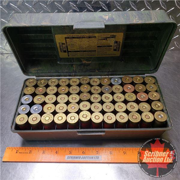 AMMO: Variety of Brands 12ga in Casegard Plastic Ammo Box (60 Total)