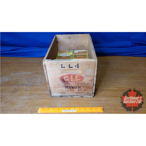 """AMMO: Vintage Imperial 12ga 2-3/4"""" (1-1/4oz : 4 Shot) (10 Boxes of 25 = 250 Total) with Vintage CIL"""